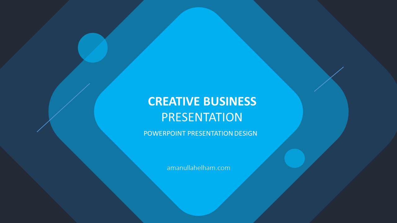 Creative Business Presentation templates